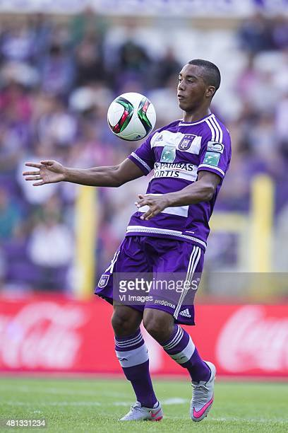 Youri Tielemans of RSC Anderlecht during the preseason friendly match between RSC Anderlecht and SS Lazio Roma on July 19 2015 at the Constant Vanden...
