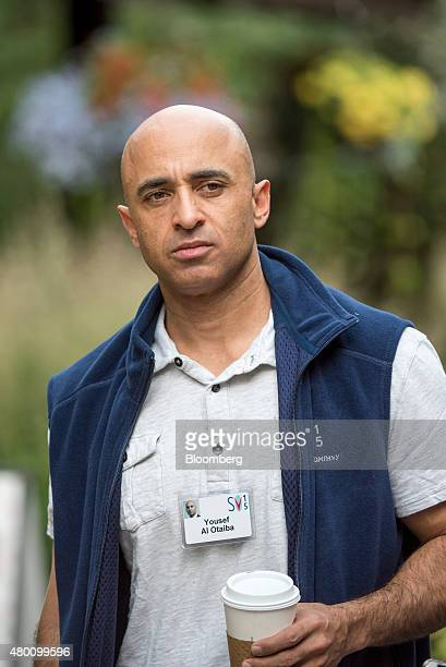 Yousef alOtaiba ambassador of the United Arab Emirates to the US arrives for a morning session during the Allen Co Media and Technology Conference in...