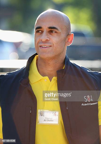 Yousef alOtaiba ambassador of the United Arab Emirates to the US attends the Allen Company Sun Valley Conference on July 10 2014 in Sun Valley Idaho...