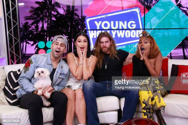 Yousef Erakat Lexy Panterra Brock O'Hurn and Diamond White at the Young Hollywood Studio on October 11 2017 in Los Angeles California