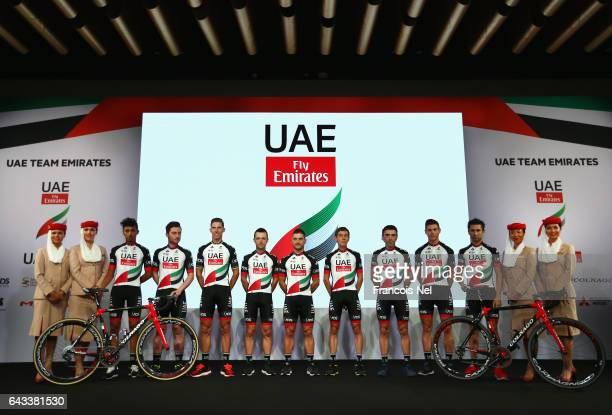 Yousif Mirza of UAE Simone Consonni of Italy Rui Alberto Faria Da Costa of Portugal Kristijan Durasek of Crotatia Andrea Guardini of Italy Louis...