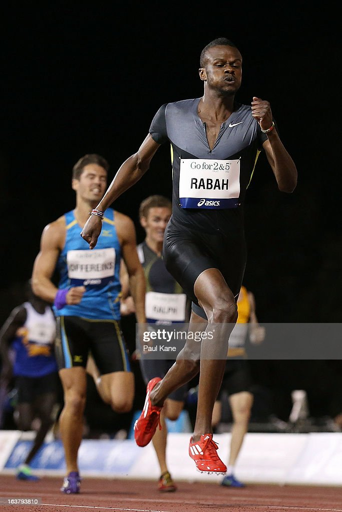Yousif Rabah of Sudan competes in the mens open 400 metre race during the Perth Track Classic at the WA Athletics Stadium on March 16, 2013 in Perth, Australia.