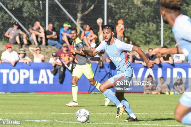 Youssef Ait Bennasser of Monaco during the friendly match between As Monaco and PSV Eindhoven on July 16 2017 in Le Chable Switzerland