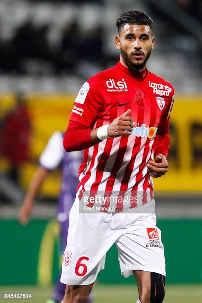 Youssef Ait Bennasser of Nancy during the French Ligue 1 match between Nancy and Toulouse at Stade Marcel Picot on February 25 2017 in Nancy France