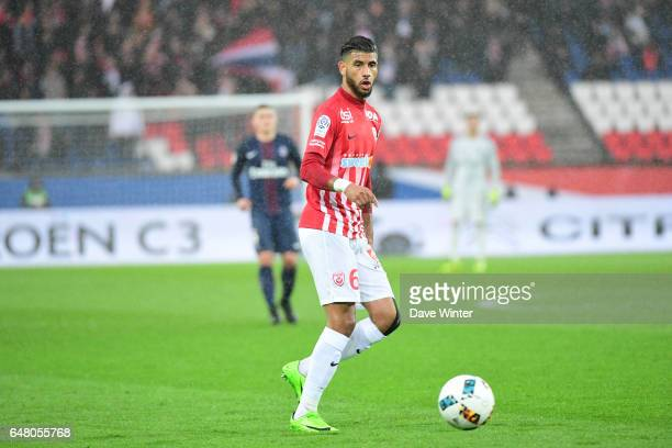 Youssef Ait Bennasser of Nancy during the French Ligue 1 match between Paris Saint Germain and Nancy at Parc des Princes on March 4 2017 in Paris...