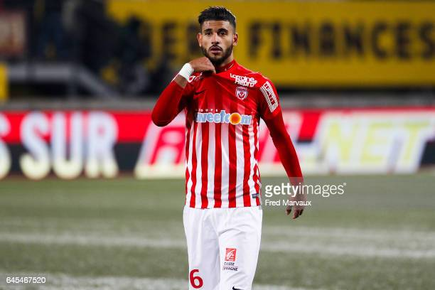 Youssef Ait Bennasser of Nancy looks dejected at the end of the game during the French Ligue 1 match between Nancy and Toulouse at Stade Marcel Picot...