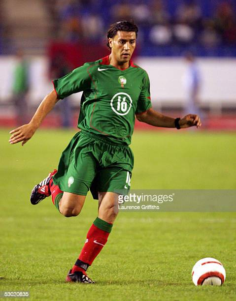 Youssef Mokhtari of Morocco during The World Cup Qualifying match between Morocco and Malawi at the Prince Moulay Abdellah Stadium on June 4 2005 in...