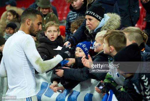 Youssef Toutouh of FC Copenhagen and fans after the Danish Alka Superliga match between FC Copenhagen and AC Horsens at Telia Parken Stadium on March...