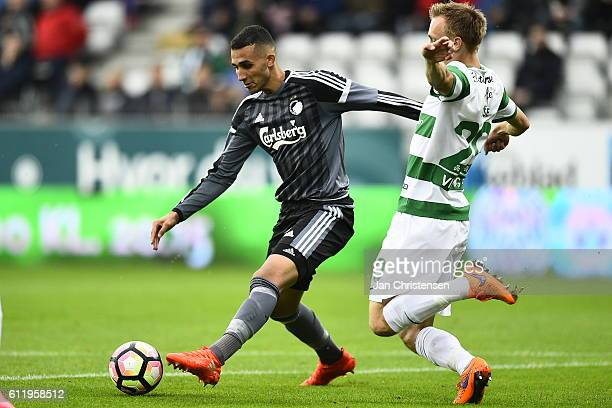 Youssef Toutouh of FC Copenhagen compete for the ball during the Danish Alka Superliga match between Viborg FF and FC Copenhagen at Energi Viborg...