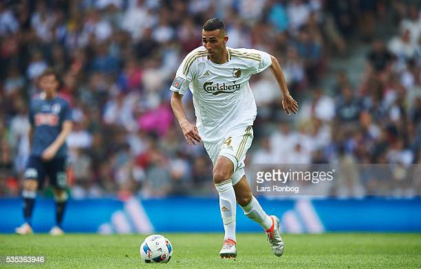 Youssef Toutouh of FC Copenhagen controls the ball during the Danish Alka Superliga match between FC Copenhagen and AGF Aarhus at Telia Parken...