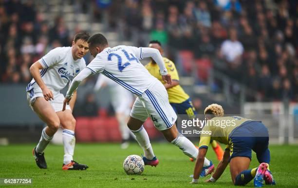 Youssef Toutouh of FC Copenhagen controls the ball during the Danish Alka Superliga match between FC Copenhagen and Brondby IF at Telia Parken...