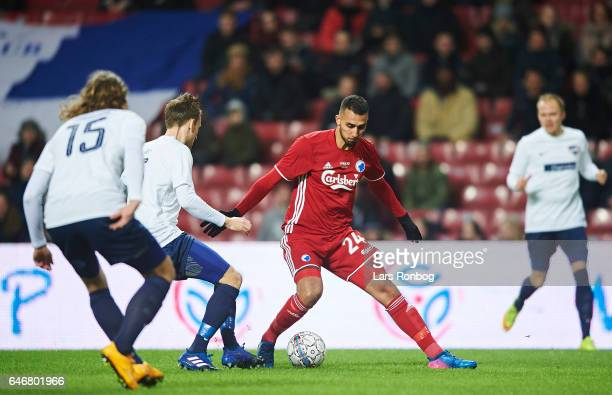 Youssef Toutouh of FC Copenhagen controls the ball during the Danish Cup DBU Pokalen match match between B93 and FC Copenhagen at Telia Parken...