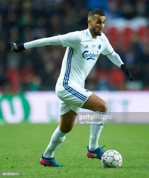 Youssef Toutouh of FC Copenhagen controls the ball during the Danish Alka Superliga match between FC Copenhagen and Esbjerg fB at Telia Parken...