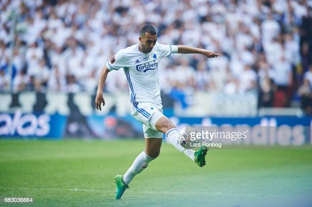 Youssef Toutouh of FC Copenhagen controls the ball during the Danish Alka Superliga match between FC Copenhagen and Brondby IF at Telia Parken...