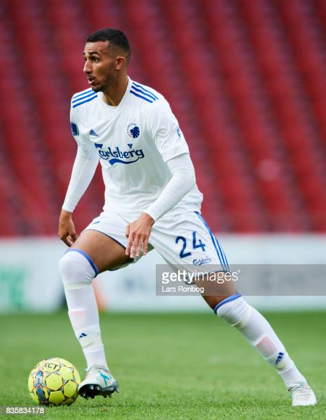 Youssef Toutouh of FC Copenhagen controls the ball during the Danish Alka Superliga match between FC Copenhagen and Sonderjyske at Telia Parken...