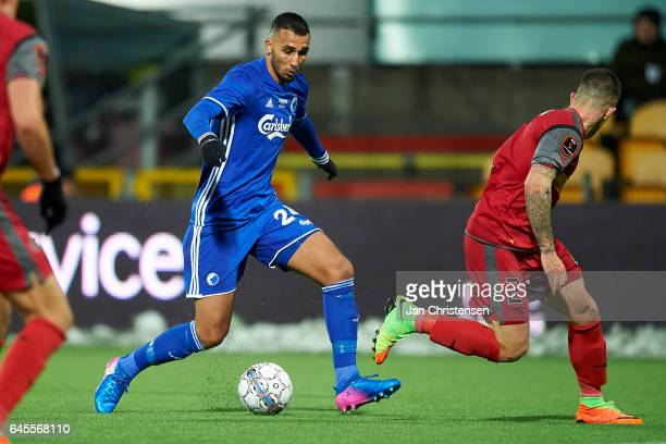Youssef Toutouh of FC Copenhagen in action during the Danish Alka Superliga match between FC Nordsjalland and FC Copenhagen at Right to Dream Park on...