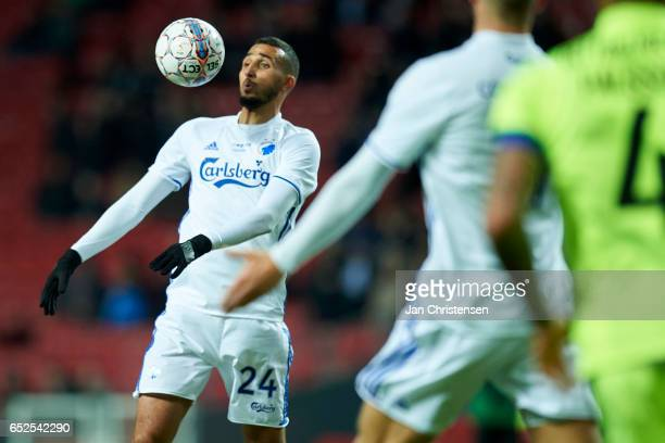 Youssef Toutouh of FC Copenhagen in action during the Danish Alka Superliga match between FC Copenhagen and Esbjerg fB at Telia Parken Stadium on...