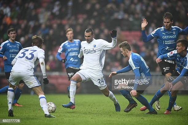 Youssef Toutouh of FC Copenhagen in action during the preseason friendly match between FC Copenhagen and Halmstads BK at Telia Parken Stadium on...