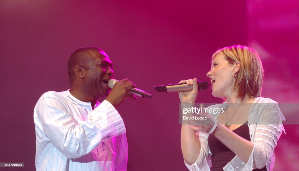<a gi-track='captionPersonalityLinkClicked' href=/galleries/search?phrase=Youssou+N%27Dour&family=editorial&specificpeople=235392 ng-click='$event.stopPropagation()'>Youssou N'Dour</a> and Dido during LIVE 8 - Paris - Show at Palais de Versailles in Paris, France.