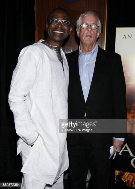 Youssou N'Dour and director Michael Apted arrive for the UK Premiere of Amazing Grace at the Curzon Mayfair in central London
