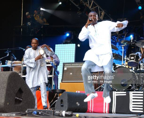 Youssou N'Dour from Senegal performing on stage