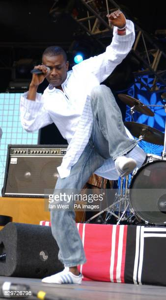 Youssou N'Dour from Senegal performing