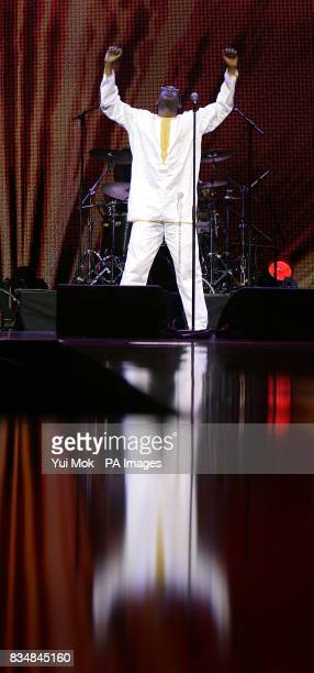 Youssou N'Dour performs on stage at the Africa Rising Festival at the Royal Albert Hall Kensington Gore London
