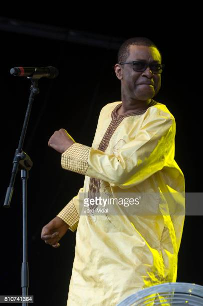 Youssou Ndour performs on stage during Cruilla Festival Day 1 at Parc del Forum on July 7 2017 in Barcelona Spain