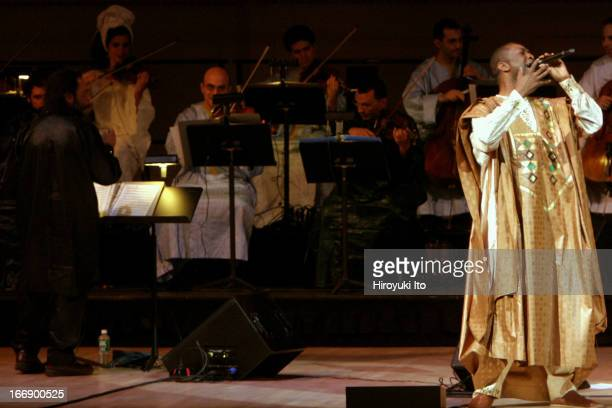 Youssou N'Dour's 'Egypt' featuring Fathy Salama's Cairo Orchestra at Carnegie Hall on Wednesday night October 26 2005This imageFathy Salama and...