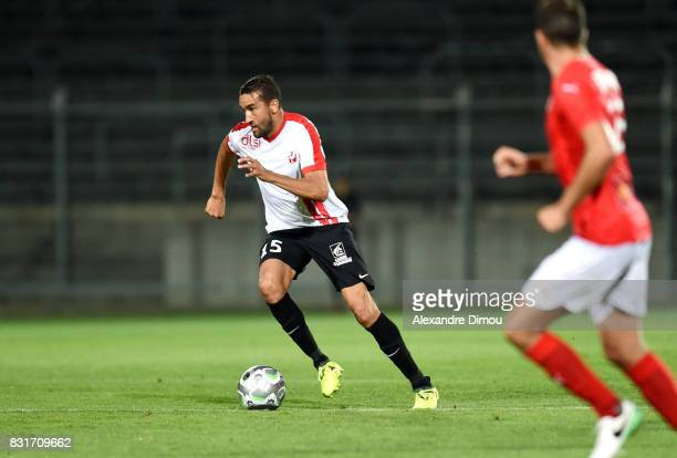 Youssouf Hadji of Nancy during the Ligue 2 match between Nimes Olympique and As Nancy Lorraine at Stade des Costieres on August 14 2017 in Nimes