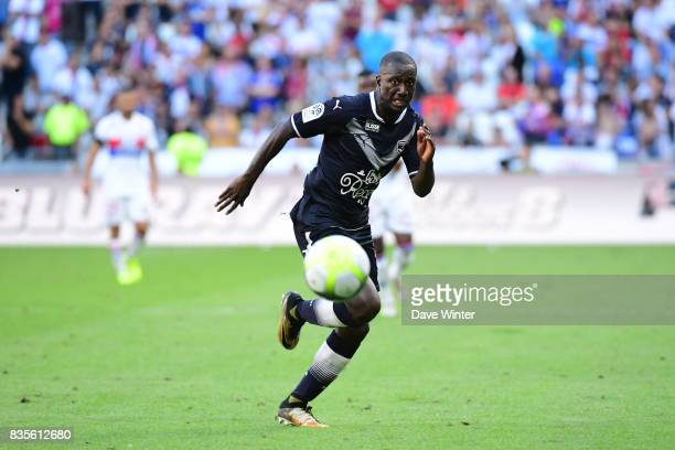 Youssouf Sabaly of Bordeaux during the Ligue 1 match between Olympique Lyonnais and FC Girondins de Bordeaux at Groupama Stadium on August 19 2017 in...