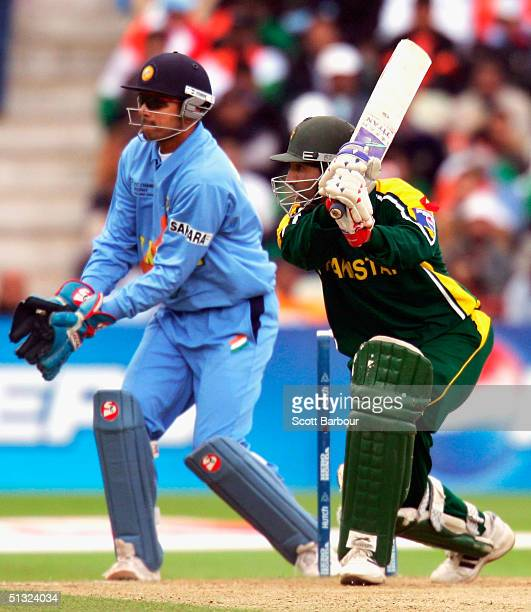 Yousuf Youhana of Pakistan in action during the ICC Champions Trophy match between Pakistan and India on September 19 2004 at Edgbaston in Birmingham...