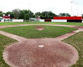 Small town ball field.  USA.