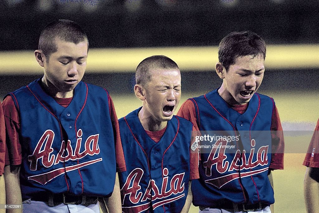 Little League World Series, Asia (JPN) upset, crying after losing game, Williamsport, PA 8/25/2002