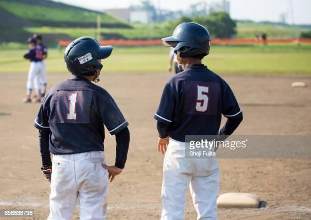 Youth Baseball Players, buddies