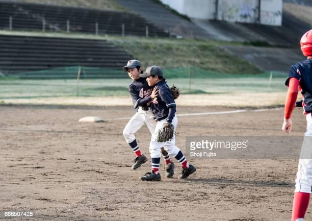 Youth Baseball Players, Teammates,encourage