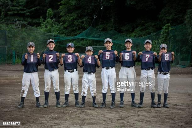 Youth Baseball Players, Teammates,uniform number