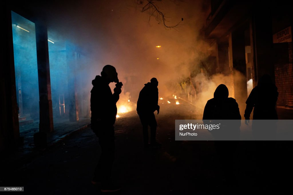 Violence broke out in Greece
