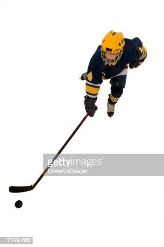 youth hockey action