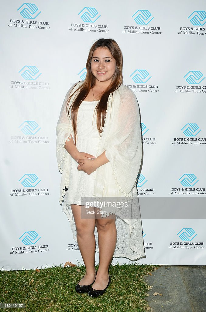 Youth of the year Mariarely Cruz arrives at the Malibu Boys And Girls Club Fundraiser to introduce the 2013 BGCM Youth of the Year on October 19, 2013 in Malibu, California.