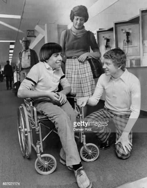 Youth Rolled to Victory and Trip to Portland Jeffrey Harring is accompanied by his mother Marilyn and a friend Bill Moon as they prepare to board a...