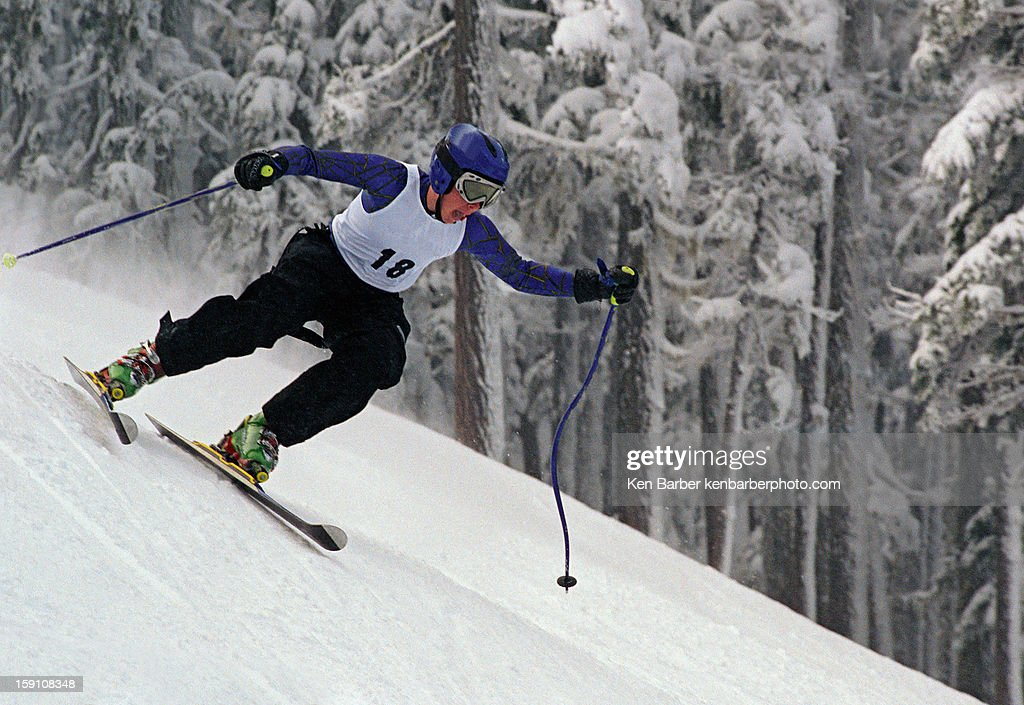 Youth Skiing : Stock Photo