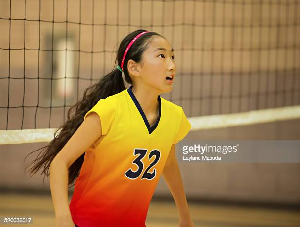 Youth volleyball - young girl