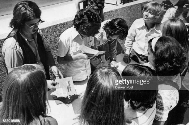 Youthful Admires Press Closely For Autographs From Young Stars Miles Chapin Marc Vahanian Bob Kramer and Darel Glaser four of the six boys who star...