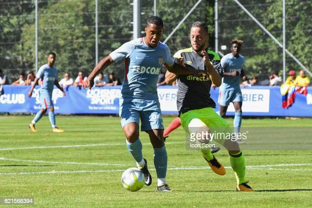 Youti Tielemans during the friendly match between As Monaco and PSV Eindhoven on July 16 2017 in Le Chable Switzerland