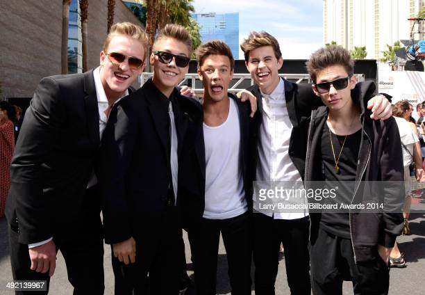 YouTube and Vine personalities Logan Paul Carter Reynolds Matthew Espinosa Cameron Dallas and Nash Grier attend the 2014 Billboard Music Awards at...