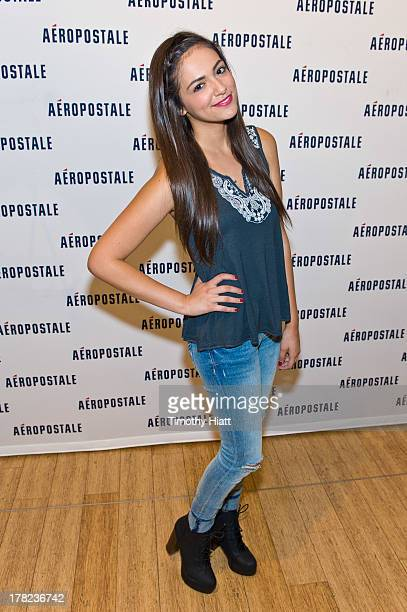 YouTube Celebrity Bethany 'Macbarbie07' Mota attends an exclusive meet greet at the Woodfield mall Aeropostale on August 27 2013 in Chicago Illinois