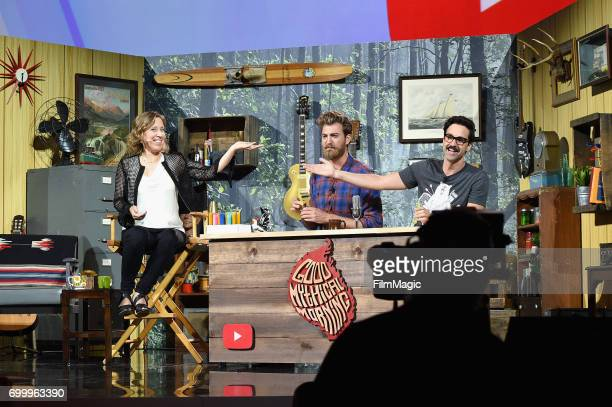 YouTube CEO Susan Wojcicki at the YouTube Keynote session hosted by Rhett Link's Good Mythical Morning at Anaheim Convention Center on June 22 2017...