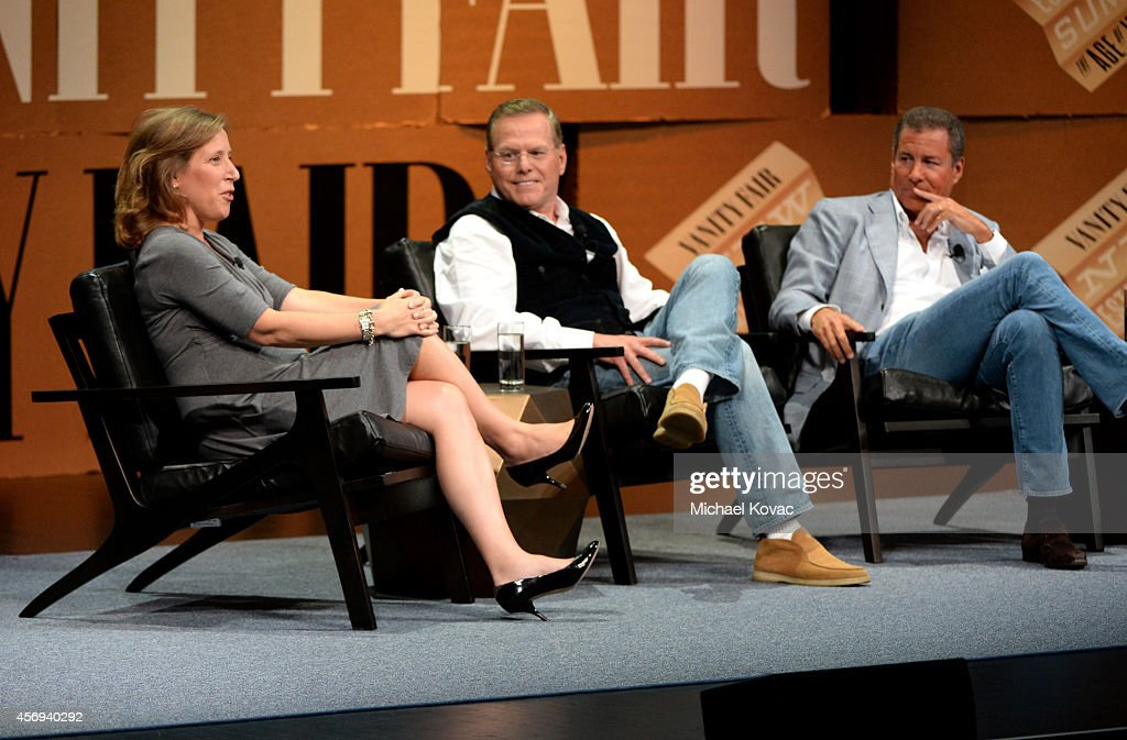 Youtube CEO Susan Wojcicki, Discovery Communications President and CEO David Zaslav and HBO Chairman and CEO Richard Plepler speak onstage during 'Who Owns Your Screen?' at the Vanity Fair New Establishment Summit at Yerba Buena Center for the Arts on October 9, 2014 in San Francisco, California.