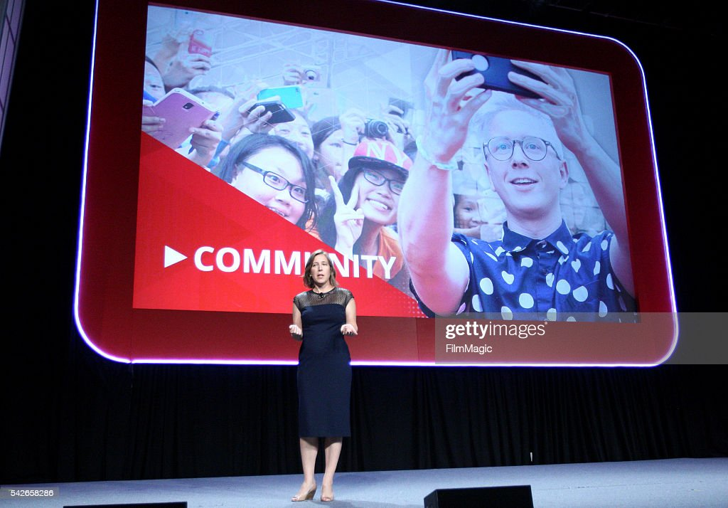 YouTube CEO Susan Wojcicki speaks at the industry keynote during VidCon at the Anaheim Hilton on June 23, 2016 in Anaheim, California.